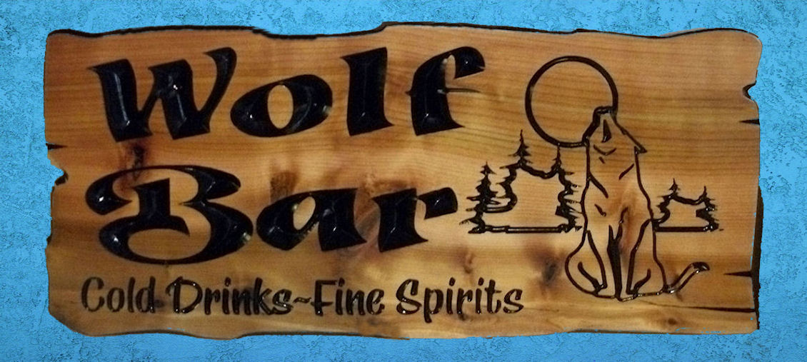 24 X 11 Outdoor Cypress sign.