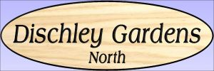 """Dischley Gardens North"" sign"
