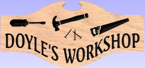 Workshop or Mancave sign